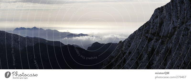 I believe. Kunst ästhetisch Natur Naturschutzgebiet Naturphänomene Berge u. Gebirge Bergkette Bergsteigen Berghang Bergkamm Ferne Panorama (Aussicht)