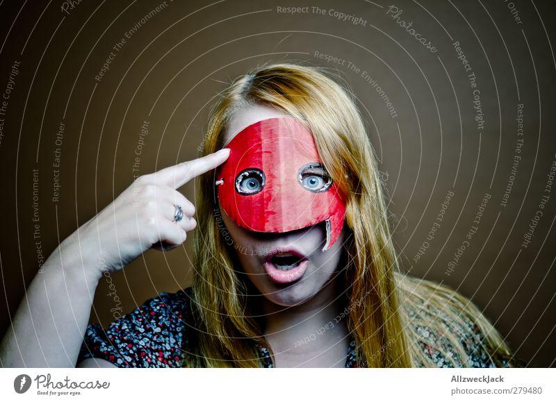 Quotegirl: Copy & Paste? So nich! Mensch Jugendliche Erwachsene feminin sprechen Junge Frau lustig 18-30 Jahre blond Kommunizieren retro Internet Maske Medien