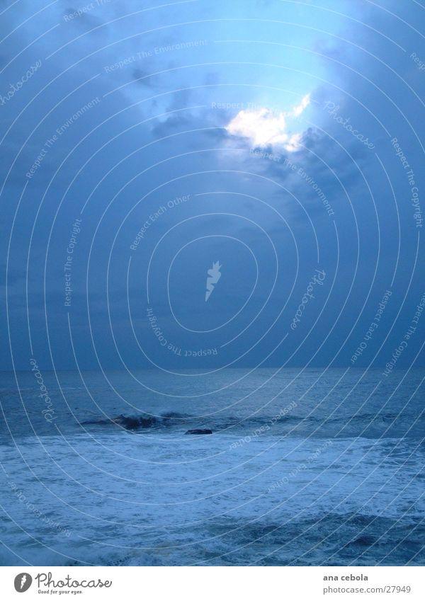 sunset oporto 1 Himmel blau See Wellen groß
