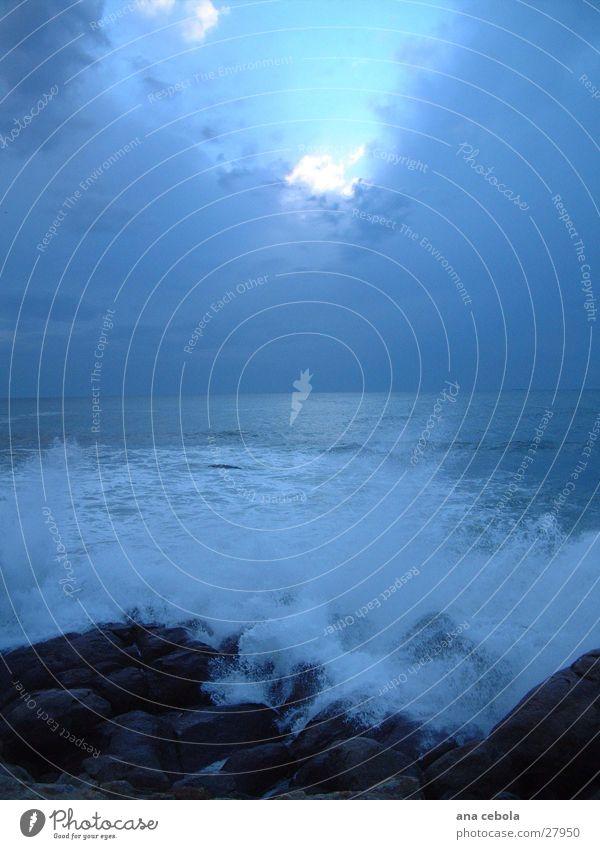 sunset oporto 3 Himmel blau See Wellen groß