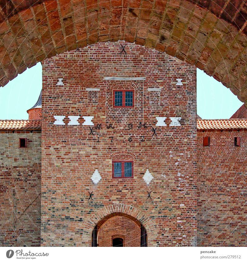 Spøttrup Borg | angesicht Burg oder Schloss Mauer Wand Fassade Tür Sehenswürdigkeit Stein Backstein Sicherheit Schutz Kultur Macht Tourismus Tradition