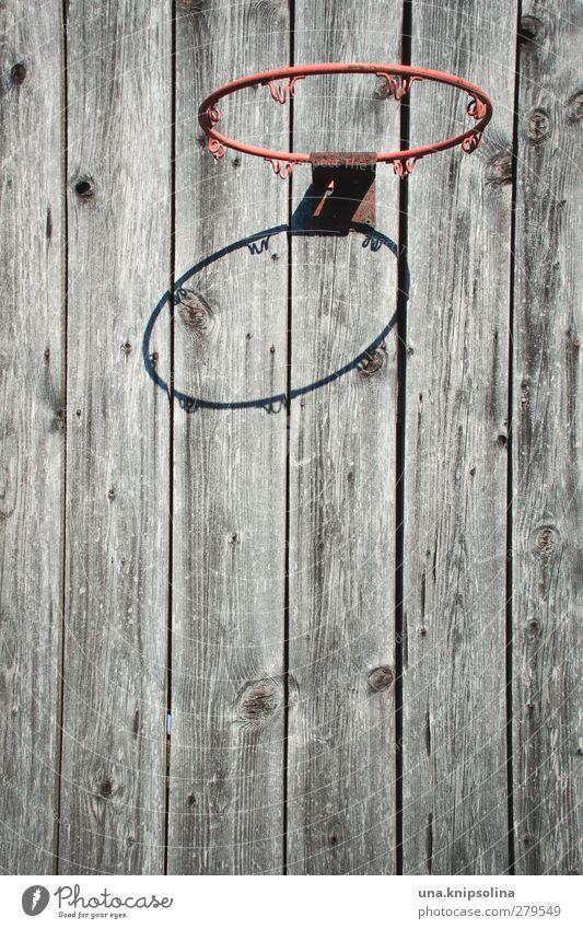 basket Freizeit & Hobby Spielen Basketball Ballsport Basketballkorb Holz Metall natürlich rund rot Design Sport stagnierend Vergangenheit Vergänglichkeit