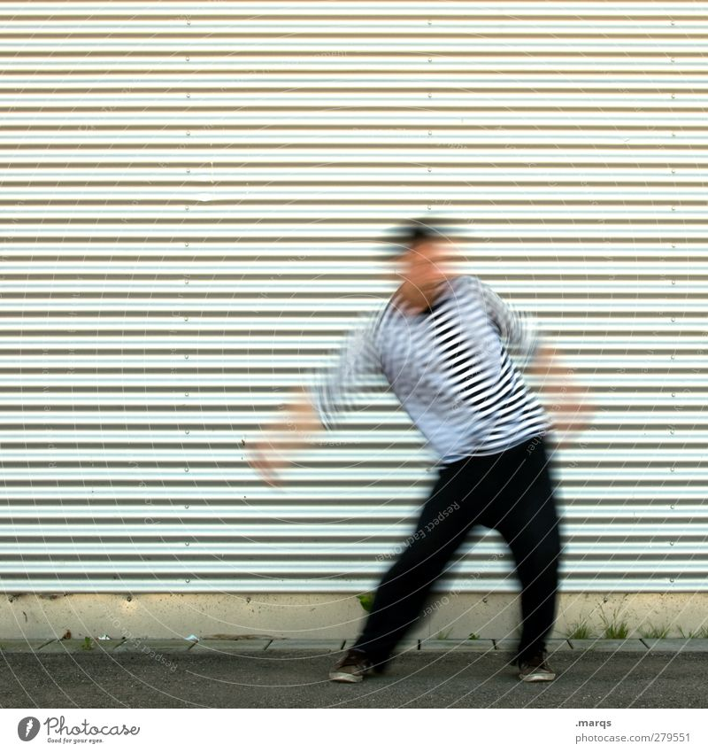 Shake Mensch Jugendliche Freude Erwachsene Gefühle Bewegung Party Stil Linie Musik 18-30 Jahre Tanzen außergewöhnlich Fassade maskulin verrückt
