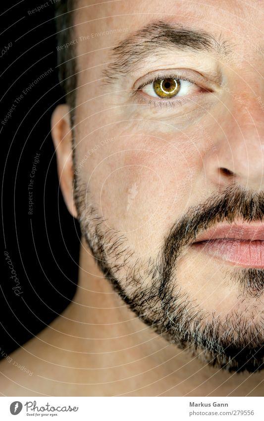 Portrait Mann Lifestyle Stil Mensch maskulin Erwachsene Kopf Gesicht Auge Bart 1 30-45 Jahre schwarzhaarig schön Gesichtsausschnitt Haut braun Regenbogenhaut