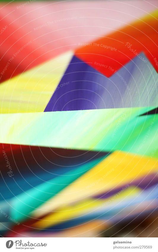 Malerei Gemälde ästhetisch eckig nah mehrfarbig Dynamik Farbfoto Textfreiraum oben Textfreiraum unten