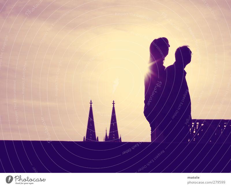 SPITZEN-AUSSICHT_02 Mensch Himmel Ferien & Urlaub & Reisen Sommer Sonne Wolken Erwachsene Landschaft feminin Zusammensein Freizeit & Hobby maskulin Tourismus