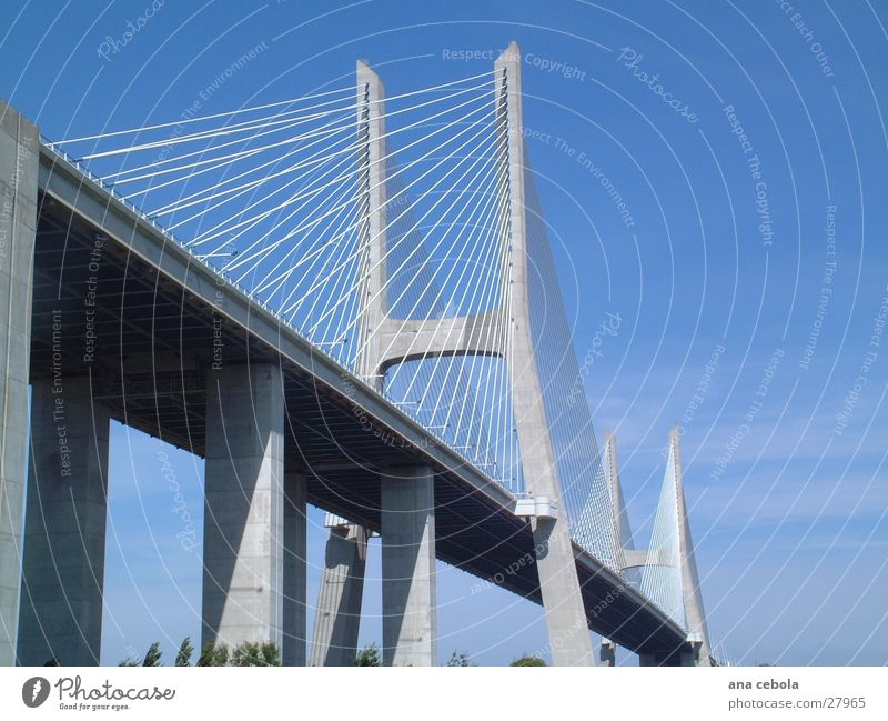 Lissabon bridge 1 Himmel Architektur Brücke modern wirklich Lissabon