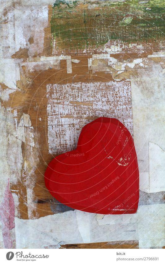 Firlefanz l Kunst der Liebe Dekoration & Verzierung Kitsch Krimskrams Zeichen Herz Gefühle Glück Zufriedenheit Lebensfreude Verliebtheit Treue Romantik Holz