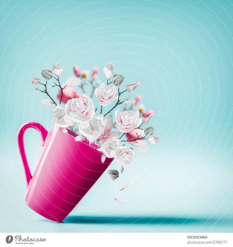 Tasse mt Frühlingsblüten kaufen Stil Design Sommer Dekoration & Verzierung Valentinstag Muttertag Hochzeit Geburtstag Blume Blüte Blumenstrauß Liebe