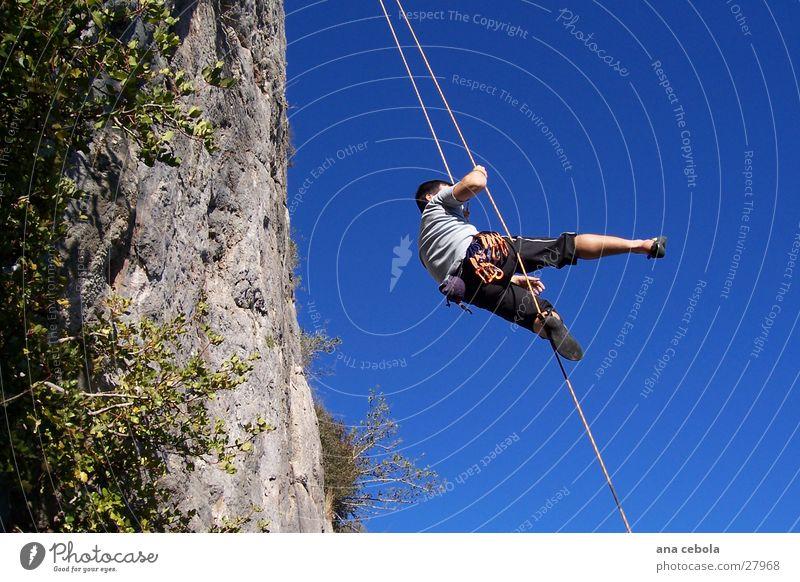 suspense Natur blau Sport Elektrizität Klettern