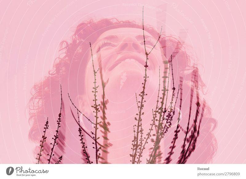 Frau Mensch Natur Pflanze Stadt Farbe schön Baum Einsamkeit Freude Winter Erwachsene Senior feminin Gefühle Glück