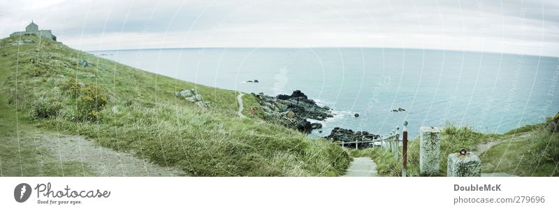 Ives Atlantic Umwelt Natur Landschaft Wasser Himmel Wolken Gras Wiese Küste Meer Atlantik blau grün Einsamkeit Erholung Ewigkeit Freiheit Ferne Idylle Farbfoto