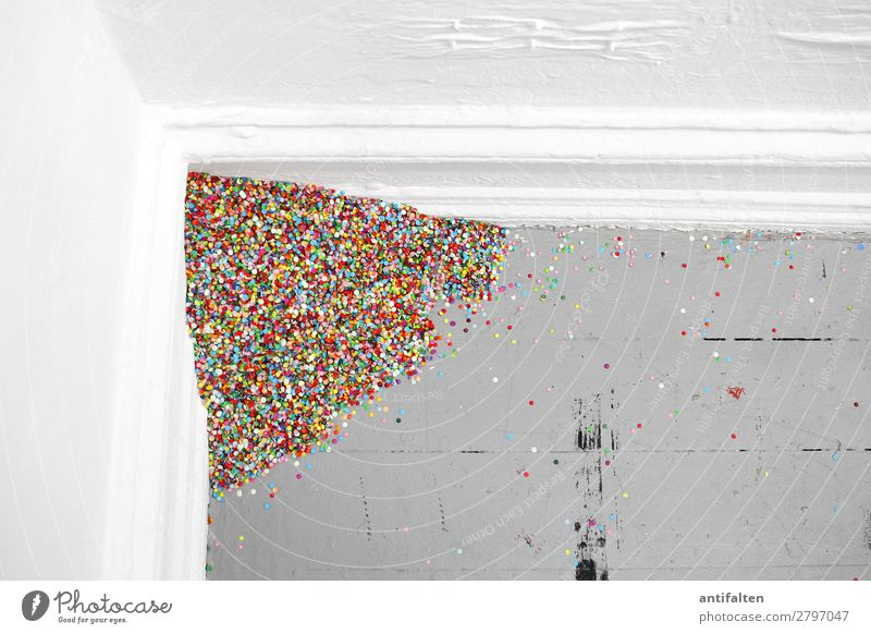 Montag morgen Farbe Haus Freude Lifestyle Wand Glück Feste & Feiern Mauer Party Häusliches Leben Design Wohnung Freizeit & Hobby Raum Geburtstag Fröhlichkeit