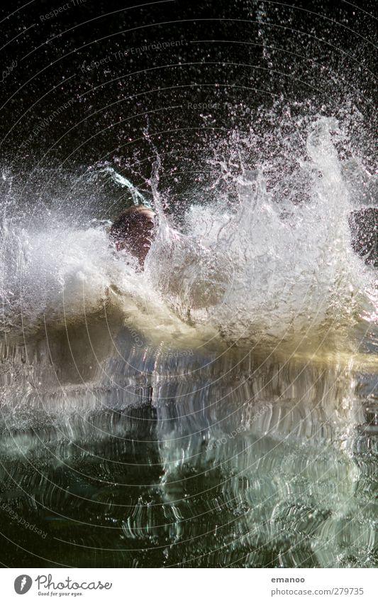 spritzig Mensch Natur Mann Jugendliche Wasser Ferien & Urlaub & Reisen Sommer Sonne Meer Freude Erwachsene Sport Kopf springen See Luft