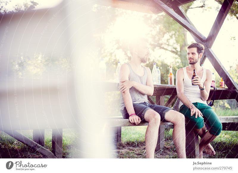 friends they are jewels Mensch Jugendliche Erwachsene Erholung sprechen Garten Stil Junger Mann Mode Freundschaft 18-30 Jahre Zusammensein Freizeit & Hobby