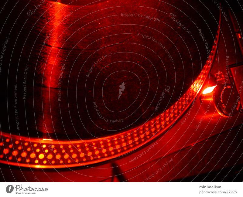 groove rot Plattenspieler Club Radio Detailaufnahme Foyer Technik & Technologie Plattenteller