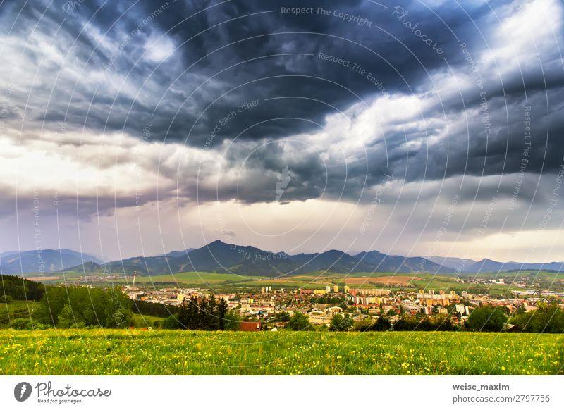 Himmel Ferien & Urlaub & Reisen Natur Sommer Stadt grün weiß Landschaft Blume Haus Wolken Wald Ferne Berge u. Gebirge dunkel Herbst