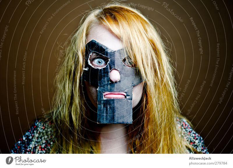 Doomsgirl 3 Karneval feminin Junge Frau Jugendliche 1 Mensch 18-30 Jahre Erwachsene Maske blond rothaarig langhaarig außergewöhnlich dunkel trashig verrückt