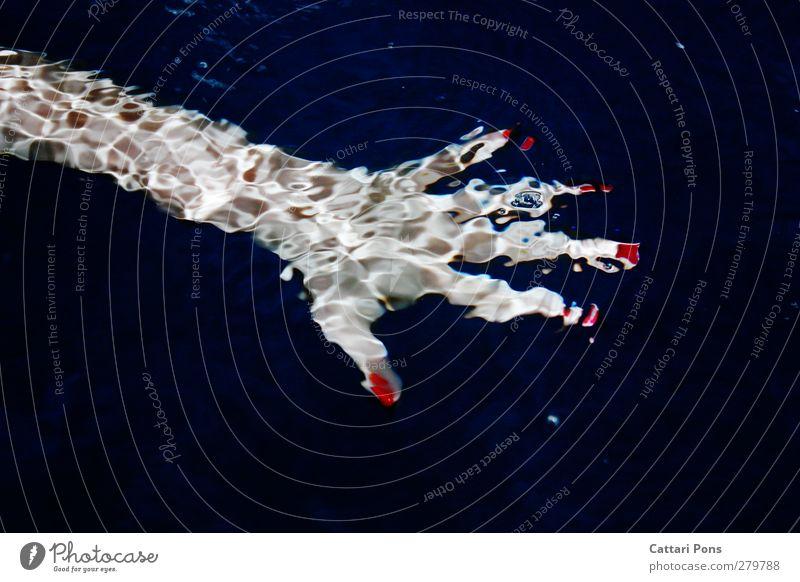 verschwommen schön Maniküre Nagellack Hand Schwimmen & Baden ästhetisch einzigartig nackt nass feminin rot Wasser Wasseroberfläche Flüssigkeit feucht