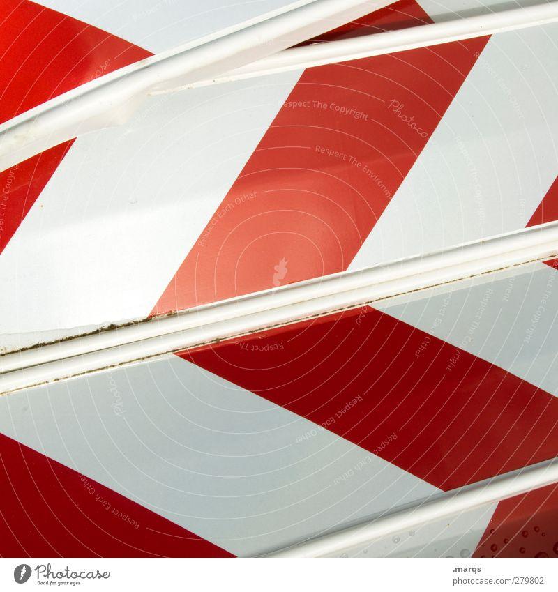 Bake Verkehr Verkehrszeichen Verkehrsschild Zeichen Schilder & Markierungen Hinweisschild Warnschild Linie Pfeil Streifen rot weiß Signal Sicherheit