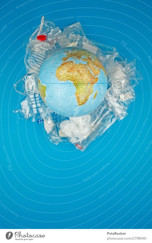 #A# PlasticWorld Kunst Kunstwerk ästhetisch Erde Weltall Weltkulturerbe Weltkarte Weltreise weltweit Statue Plastiktüte Plastikwelt Kunststoffmüll Verpackung