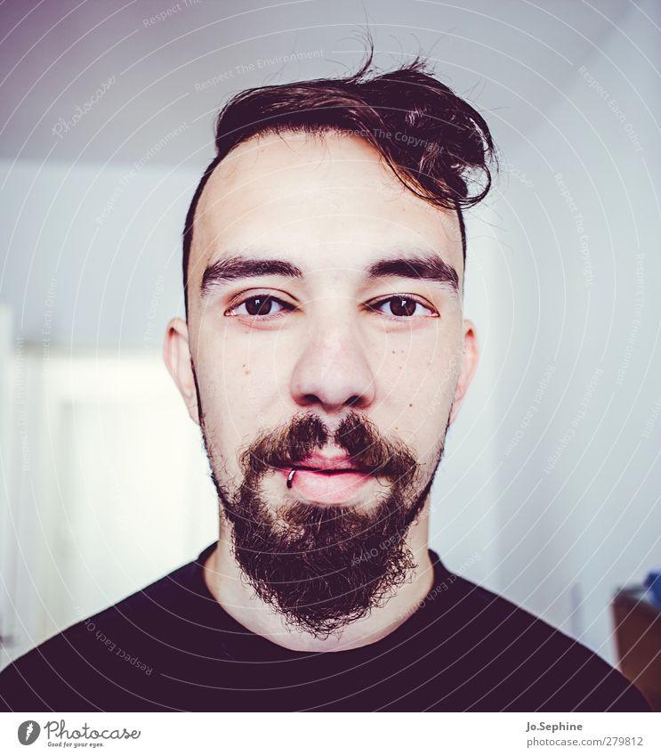 use your eyes! Mensch maskulin Junger Mann Jugendliche Kopf Gesicht 1 18-30 Jahre Erwachsene Haare & Frisuren Bart außergewöhnlich verrückt ästhetisch bizarr
