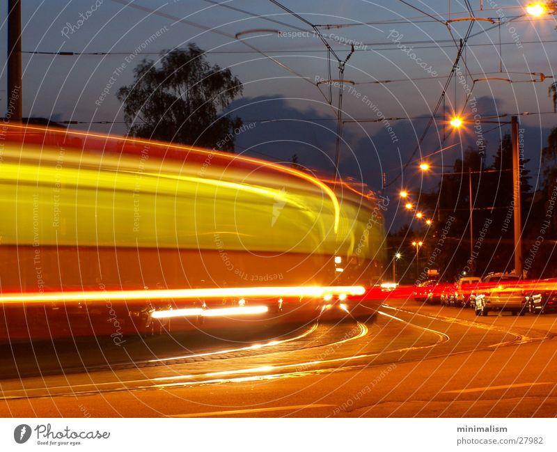 linie 5 Linie Verkehr U-Bahn Abenddämmerung Straßenbahn