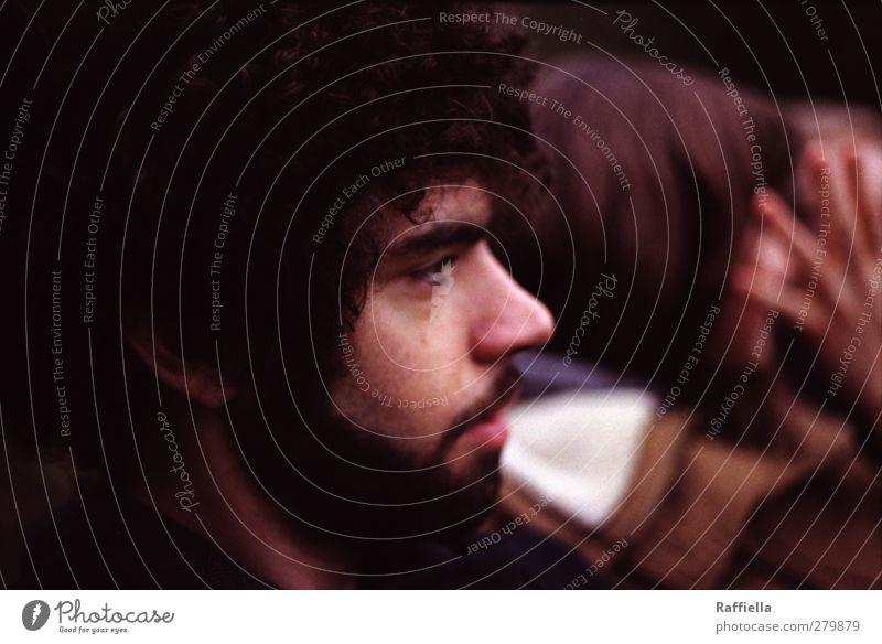 männlich | bärtig maskulin Junger Mann Jugendliche Kopf Haare & Frisuren Gesicht Auge Nase Bart 1 Mensch 18-30 Jahre Erwachsene schwarzhaarig Locken Rastalocken