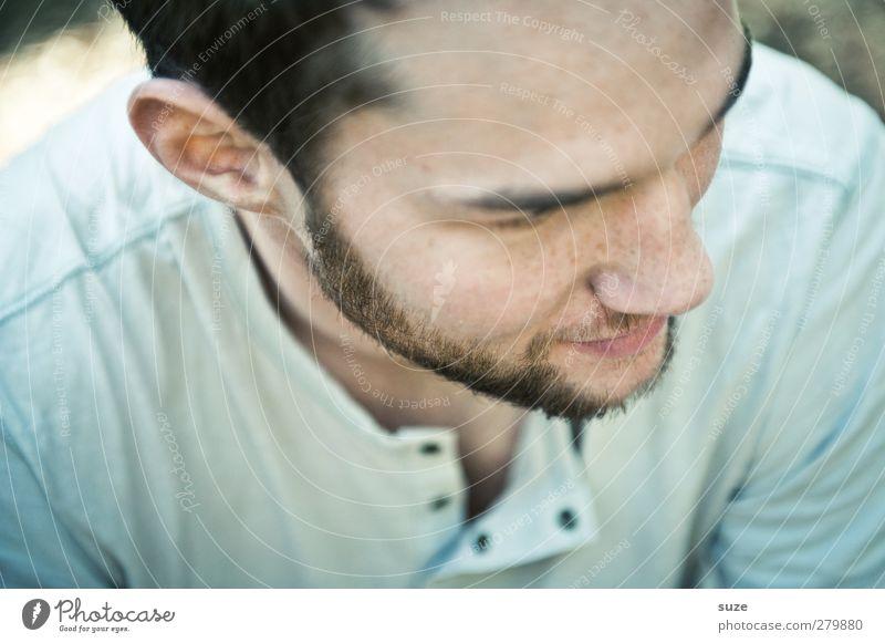 Zuhörer Lifestyle Stil Mensch maskulin Junger Mann Jugendliche Erwachsene Kopf Gesicht Bart 1 18-30 Jahre Mode Hemd kurzhaarig authentisch Coolness natürlich
