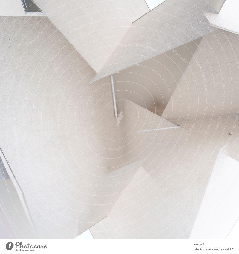 kraut und rüben weiß Freiheit Stein Innenarchitektur Linie Ordnung elegant authentisch Beton Beginn modern ästhetisch Perspektive Streifen retro einzigartig
