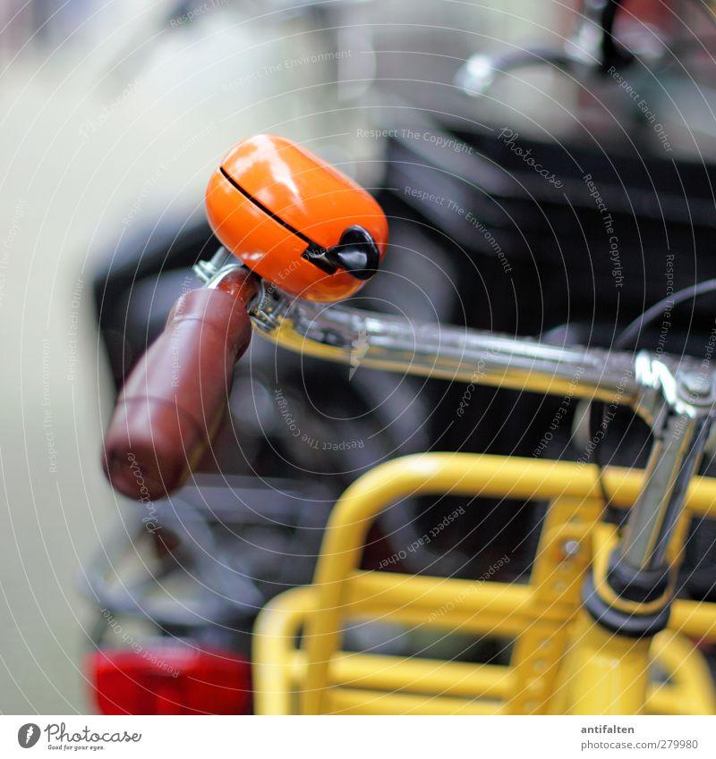 beautiful orange bicycle bell Sightseeing Städtereise Sommer Fitness Sport-Training Fahrradfahren Stadt Hafenstadt Stadtzentrum Verkehrsmittel Straße