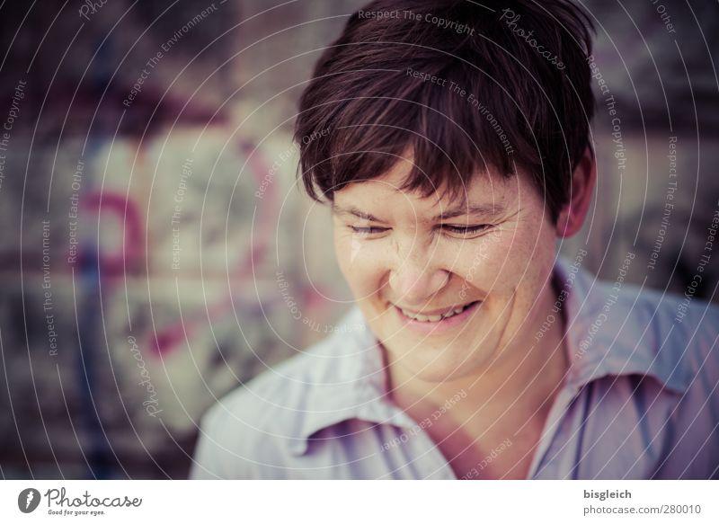 Lachen II Mensch Frau Jugendliche Freude Erwachsene Gesicht feminin Junge Frau Gefühle lachen Glück braun rosa natürlich Fröhlichkeit Freundlichkeit