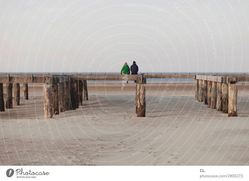 am strand Ferien & Urlaub & Reisen Tourismus Ausflug Ferne Freiheit Mensch Paar Erwachsene Leben 2 18-30 Jahre Jugendliche 30-45 Jahre Umwelt Natur Landschaft