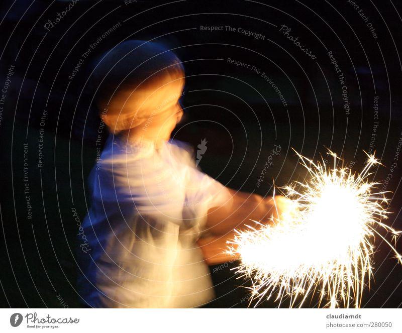 Engel Jo Party Weihnachten & Advent Silvester u. Neujahr Mensch Kind Junge 1 3-8 Jahre Kindheit Tanzen Hemd Bewegung drehen glänzend Fröhlichkeit Glück