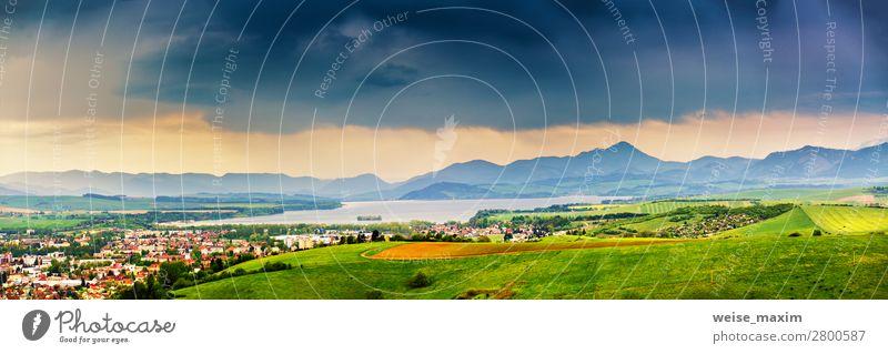 Himmel Ferien & Urlaub & Reisen Natur Sommer Stadt grün Wasser weiß Landschaft Blume Haus Wolken Wald Ferne Berge u. Gebirge dunkel