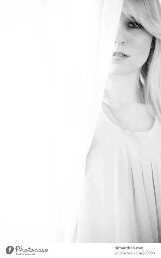 portrait Mensch Frau Jugendliche schön Sommer ruhig Erwachsene Gesicht Erholung feminin Junge Frau Haare & Frisuren 18-30 Jahre blond Haut Zufriedenheit