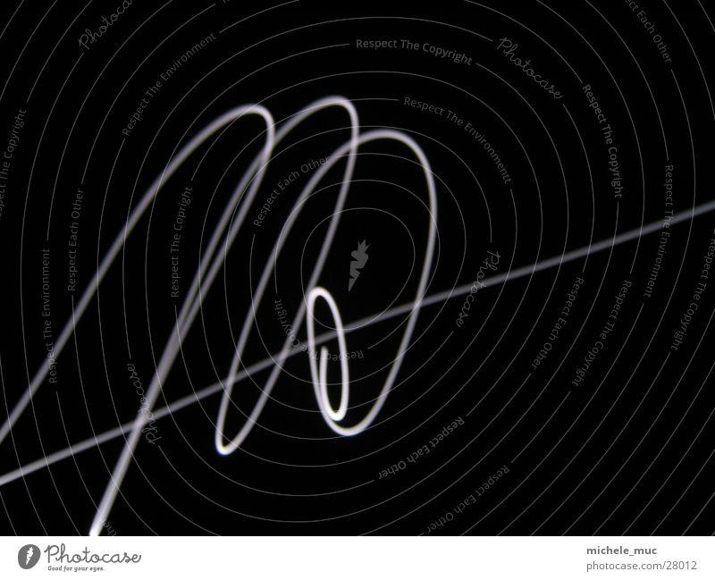 Langzeitbeleuchtung #1 Langzeitbelichtung Licht weiß Nacht Spirale Linie Mond