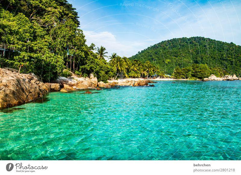 wegträumen traumhaft Menschenleer Küste Ruhe genießen Sehnsucht Himmel Strand Wellen Meer Licht Kontrast besonders Natur exotisch Ausflug außergewöhnlich