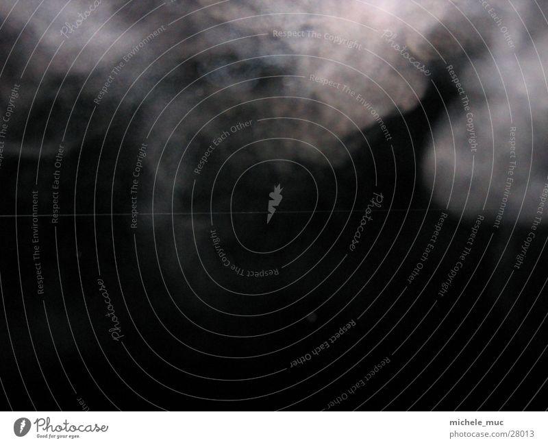 Rauch der Finsternis dunkel Nacht schwarz weiß Fototechnik