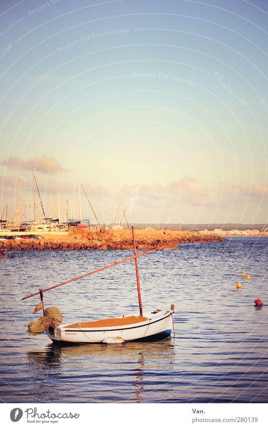 bis zum nächsten Jahr... Himmel Natur blau Wasser Ferien & Urlaub & Reisen Meer Wolken Küste Schwimmen & Baden Wellen Schönes Wetter Hafen violett Bucht Sommerurlaub Fernweh