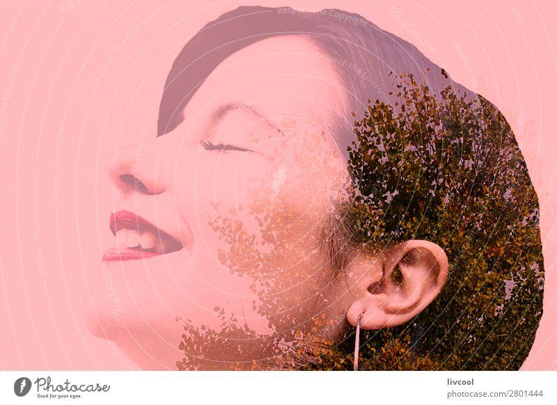 Frau Mensch Natur Jugendliche Junge Frau Pflanze blau Stadt Farbe schön Baum Erotik Einsamkeit Winter 18-30 Jahre Gesicht