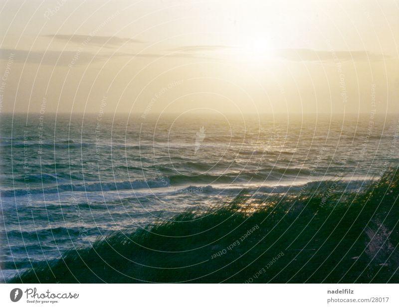 Nordmeerküste Küste Sonnenuntergang Nebel Horizont Meer Wasser