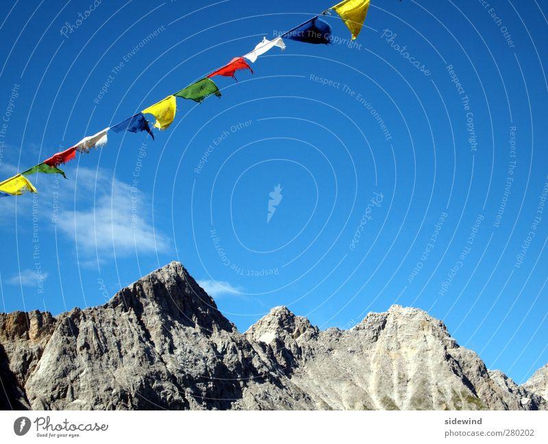 Sherpa I Himmel Natur Ferien & Urlaub & Reisen Sommer Erholung Landschaft ruhig Ferne Umwelt Berge u. Gebirge Religion & Glaube Freiheit Felsen Tourismus Wind wandern