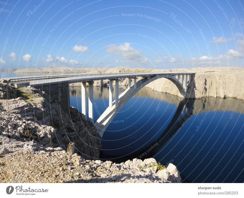 Die Brücke ins Nichts Himmel Natur Wasser Sommer Pflanze Tier Landschaft Architektur Sand Stein träumen Horizont Felsen außergewöhnlich Kraft groß
