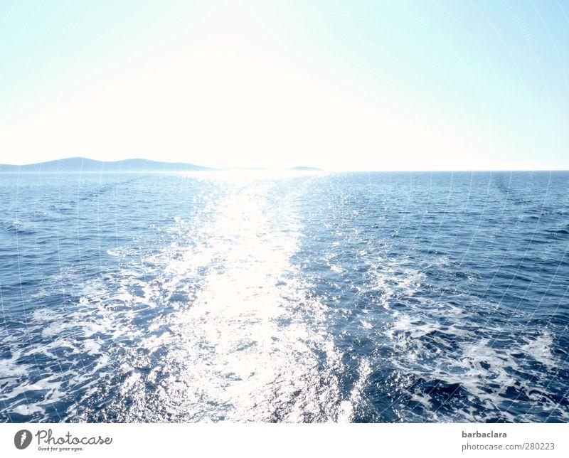 illusion of infinity Himmel Natur blau Wasser Ferien & Urlaub & Reisen schön Sommer Meer Landschaft Ferne Umwelt Berge u. Gebirge Herbst Wege & Pfade Freiheit