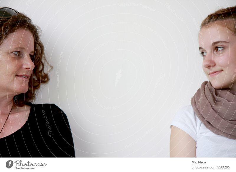 wir zwei. Mensch Frau Kind Jugendliche weiß schön schwarz Erwachsene Gesicht feminin Junge Frau Glück Familie & Verwandtschaft Freundschaft Zusammensein Zufriedenheit