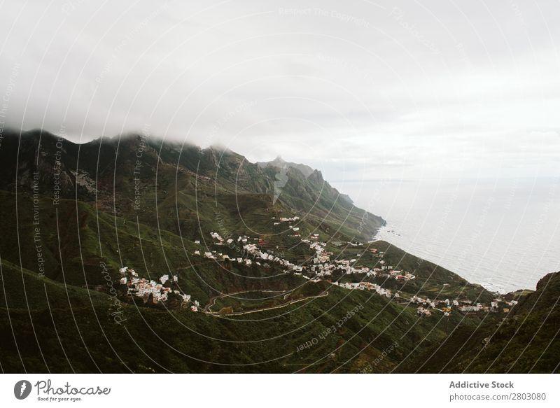 Nebel über wunderschönes hügeliges Gelände Hügel Natur Spanien Landschaft Ferien & Urlaub & Reisen Ausflug
