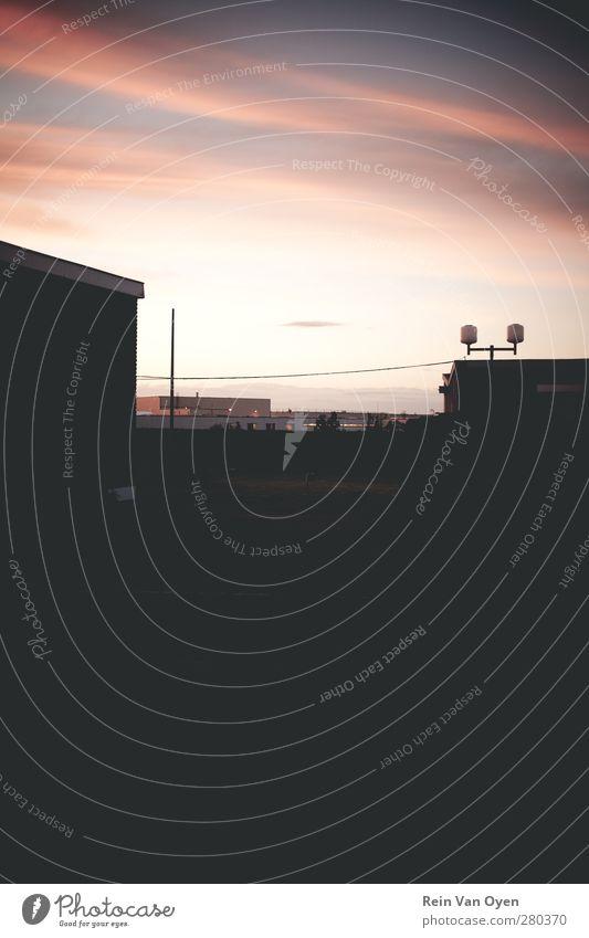Himmel Einsamkeit Umwelt Gefühle Gebäude Horizont Stimmung Nachthimmel purpur Abendsonne