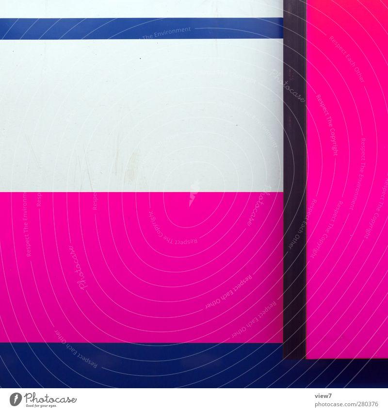 für mädchen Wand Mauer Metall Linie rosa Ordnung Verkehr authentisch frisch Beginn modern Fröhlichkeit ästhetisch Eisenbahn Streifen Autotür