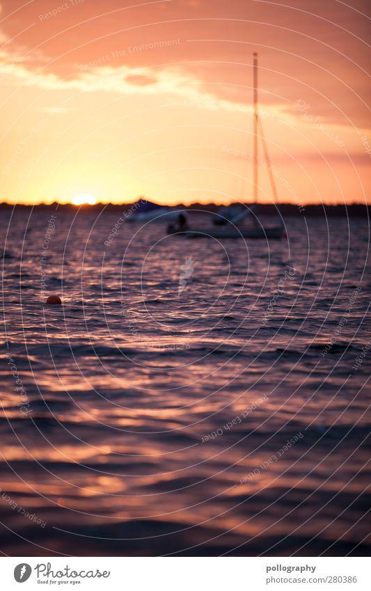 schön wars Ferien & Urlaub & Reisen Ausflug Ferne Freiheit Sommer Sommerurlaub Sonne Meer Wellen Natur Landschaft Wasser Himmel Wolken Horizont Sonnenaufgang